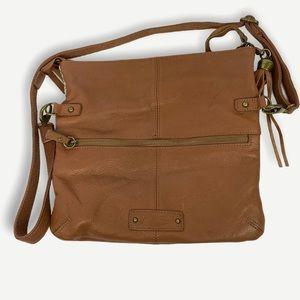 Luck Brand Handbag Leather Tassel Boho Brown Purse